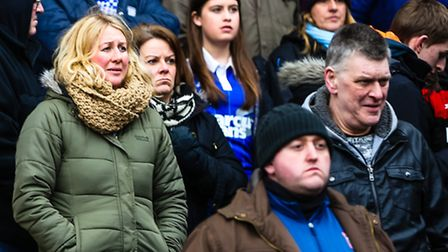 Supporters pictured at the Ipswich Town v Rotherham United (Championship) match at Portman Road, Ips