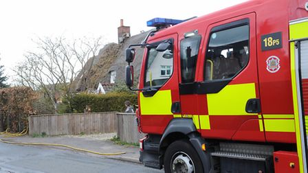 File image of a Suffolk fire crew at work.
