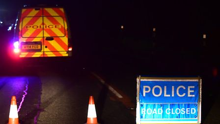Emergency services attend the scene of a fatal accident on the B1078 towards Needham Market.