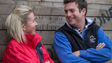 Laura and Robert Strathern of Fairfields Farm Crisps, who scooped the East of England Co-op's Produc
