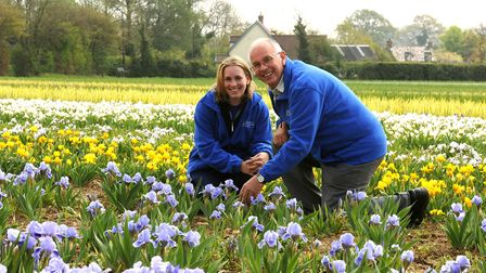 Pictured in 2009, David Howard with his daughter Christine who now runs Howard Nurseries at Wortham,