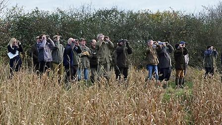 Big Farmland Bird Count 2016: a group taking part in the count.