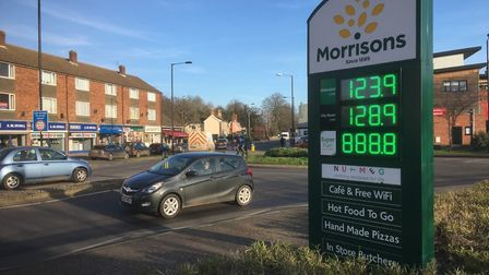 Morrisons roundabout in Diss that has been earmarked for major changes under new transport strategy