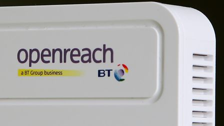 """A BT Openreach internet router. BT has been told it must """"significantly"""" cut prices charged for high"""