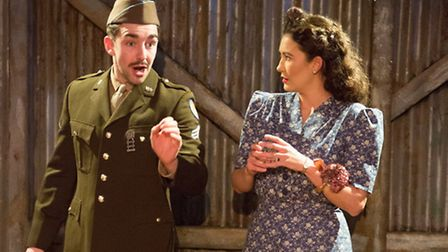 Josh Hayes and Georgia Brown in Somewhere in England a new play by Polly Wiseman about the US Airfor