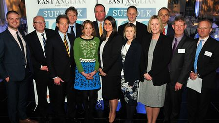 EADT editor Terry Hunt and representatives from sponsors J M Finn & Co, Flovate, Norse, Prettys, Scr