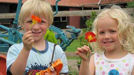 Youngsters enjoy exploring The Museum of East Anglian Life