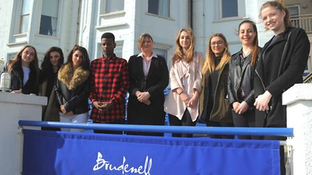 Students from Suffolk One at the Brudenell Hotel in Aldeburgh to learn skills from Front of House Ma