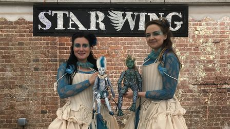 Actors and locals worked together to stage Shakespeare at Star Wing Brewery ShakesBeer festival. Pic