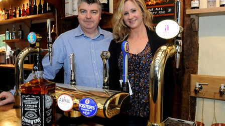 Darren and Angela Turner who are the new landlord and landlady of the Swan Inn in Hoxne.