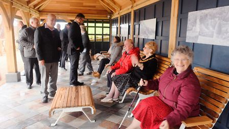 Opening of the South Cliff Gardens shelter at Felixstowe - the last piece in the Heritage Lottery Fu