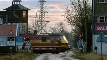 The level crossing at Mellis on the Norwich to London high speed rail mainline. Picture: Simon Parke