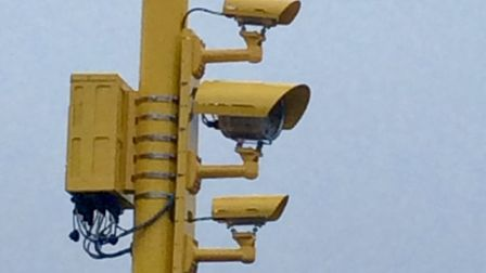 Cameras similar to those planned for the Norwich to London line level crossing at Mellis. Picture: N
