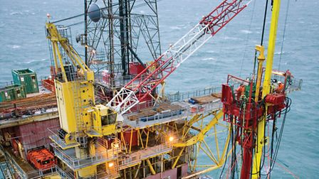 An offshore platform in the Southern North Sea.