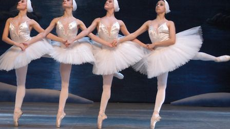 The dance of the four cygnets from the Russian State Ballet and Orchestra of Siberia's production of