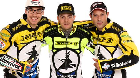 L-R, Paco Castagna, Lewis Kerr and Nico Covatti pictured at their Studio Press Shoot at Ipswich Spor