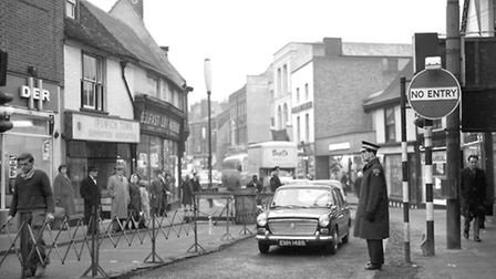 Westgate Street in February 1966. The street was then open to traffic. (Picture by Ivan Smith/Archan