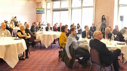 Members of the audience listen to speakers at the Suffolk Inside Out Tourism Conference at Trinity P
