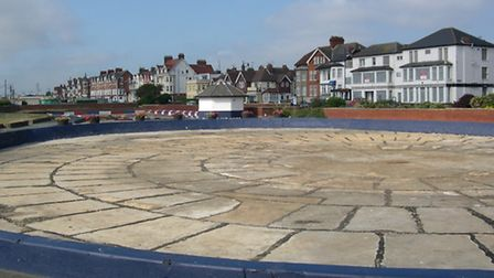 The much-criticised boating lake at Felixstowe