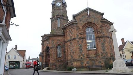 Eye Town Hall where the appeal over plans for 126 new homes on the edge of the town will take place.