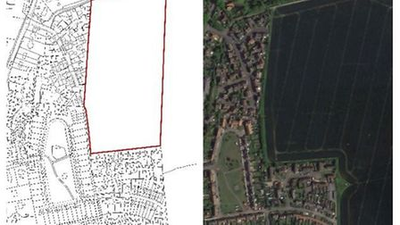 Land adjoining Tuffs Road and Maple Way in Eye where outline permission is being sought for 126 new