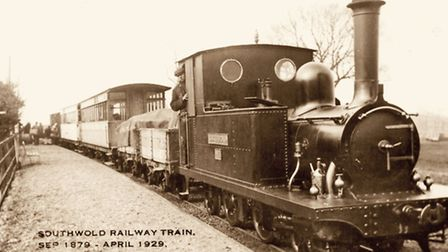 An engine on the Southwold to Halesworth line, which ran from late 1879 until the spring of 1929