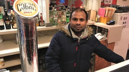 Sahill Shahriya, owner of Diss Tandoori, which has closed as he seeks new investors to revamp the re