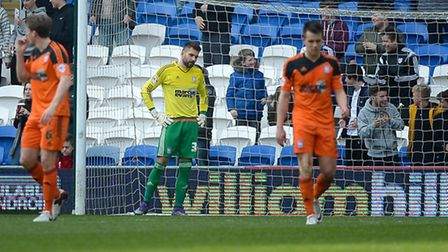 Bartosz Bialkowski is disappointed to have been beaten by Bruno Ecuele Manga's first half near post