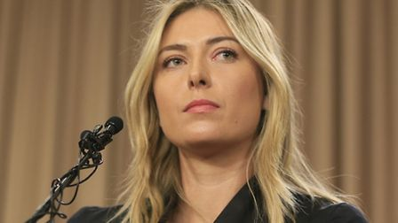 Tennis star Maria Sharapova speaks during a news conference in Los Angeles on Monday, March 7, 2016.