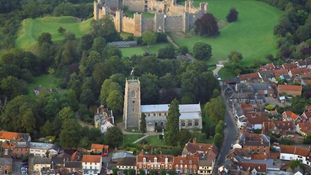 Framlingham from above. Pic: Mike Page.