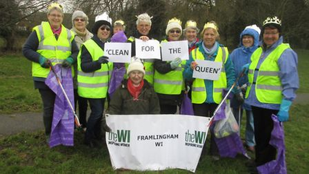 Framlingham WI takes part in Clean for the Queen