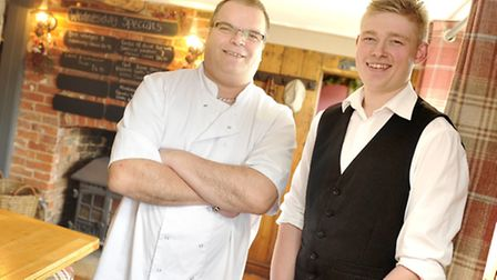 Head Chef Emmanuel Faro and Manager Luke Rainbird at the recently renovated Punch Bowl Community Inn
