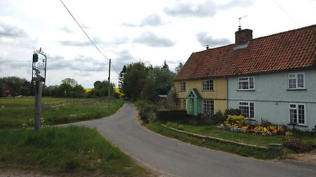 The village of Cookley near Halesworth.
