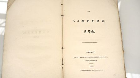 First edition of seminal work of gothic horror The Vampyre: A Tale by John William Polidori sold at
