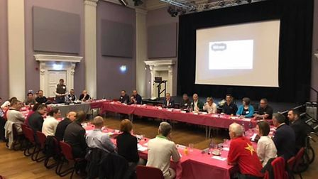 A meeting of the Diss Mere BNI in the town's Corn Hall Exchange. Picture: Diss Mere BNI