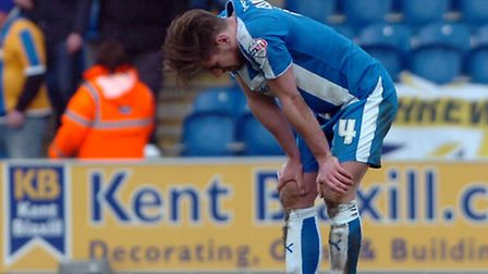 Joe Edwards, who was sent off this afternoon