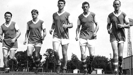 Members of Ipswich Town's Class of '62: From left, Roy Stephenson, Doug Moran, Ray Crawford, Ted Phi