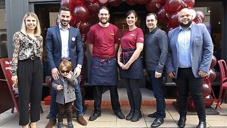Costa has reopened in Diss following a refurbishment of more than £90,000. Pictured: The team at Cos