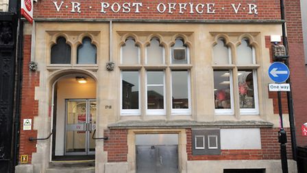 The main post office in Bury St Edmunds