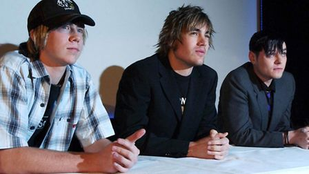 Busted's James Bourne, Charlie Simpson and Matt Willis announce their split during a press conferenc