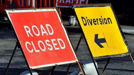Works by Anglian Water will see road closures and traffic lights on the A140 in Long Stratton. Pictu