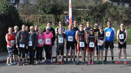 All 20 competitors before the start