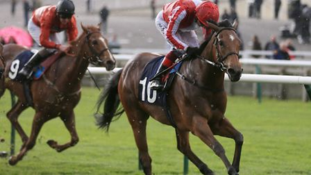 Nathra ridden by Frankie Dettori before winning the Lanwades Stud Nell Gwyn Stakes during day one of