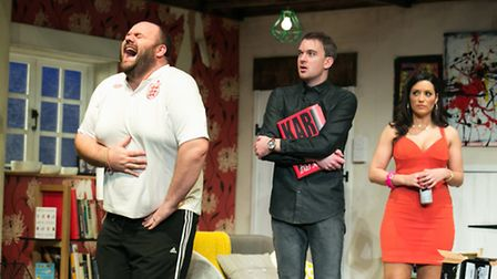 Graeme Brookes, Kerry Bennett, Alastair Whatley in Invincible by Torben Betts at the New Wolsey Thea