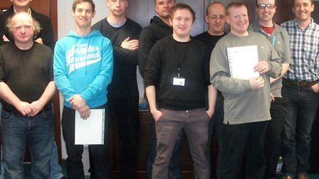 Some of the employees at Treatt who have achieved Level 2 NVQs.