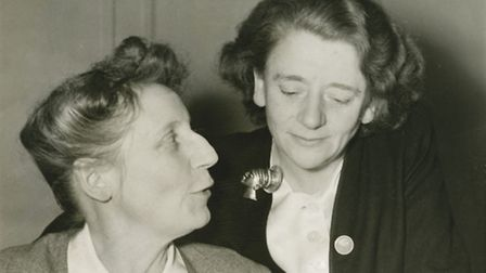 The only two women in Churchill's war ministry: Florence Horsbrugh and Ellen Wilkinson