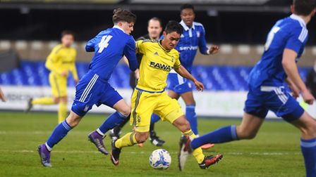 Ipswich Town v Nottingham Forest U21 Left to right, Adam McDonnell and Kieran Hayes.
