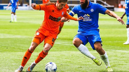 Teddy Bishop will be on the bench for Ipswich Town tonight