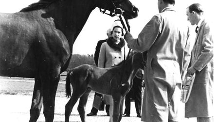 The Queen visitng Newmarket in 1967