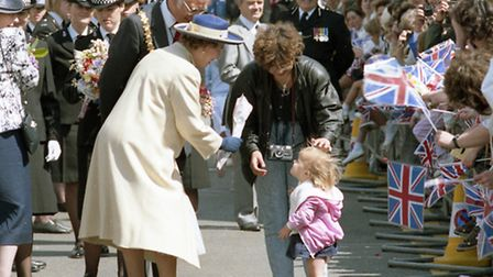 The Queen at the opening of the County Hall in Chelmsford